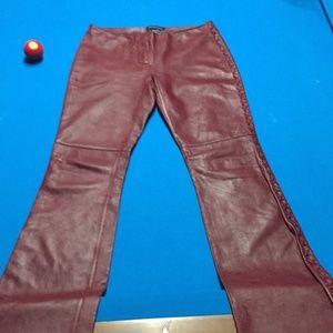 100% Leather Boho Pants